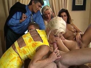 Dutch facial group sex ending