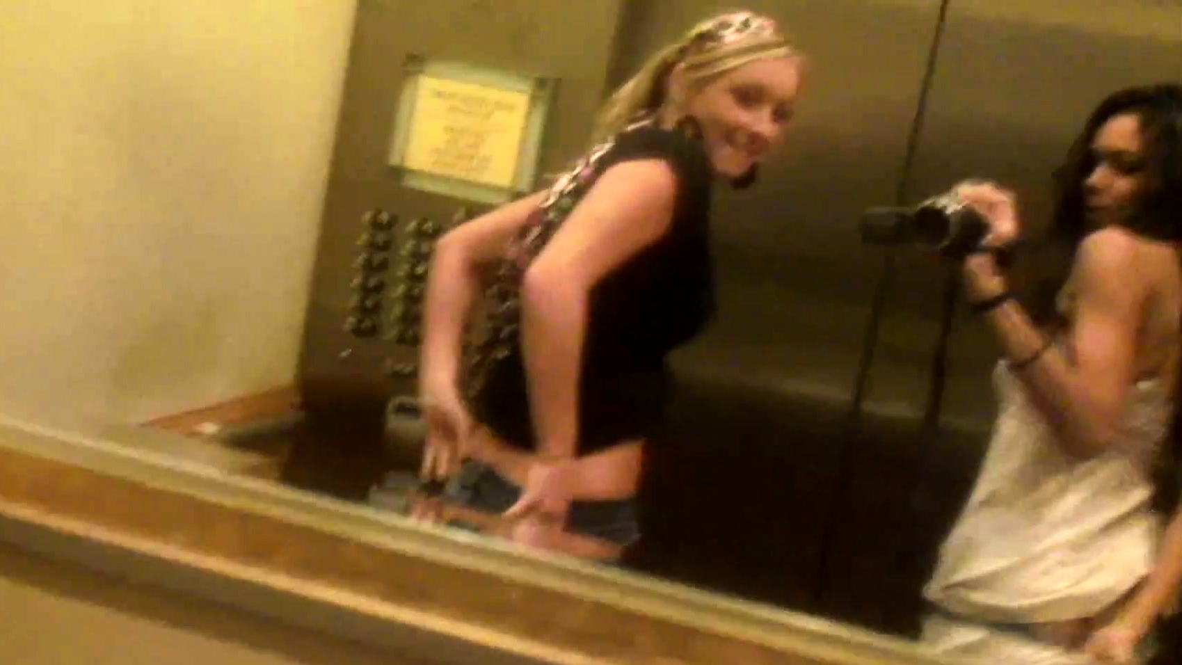 Elevator nude lesbians