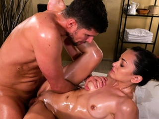 Massage Rooms Sensual oil soaked romantic sex