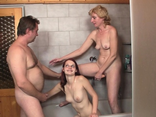 He caught family threesome in the bathroom