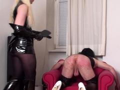 bizarrlady Jessica spank her sissy
