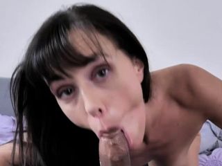 Alana wraps her fingers around Brother Love's girthy shaft