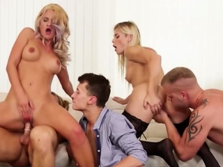 Hot bimbos and nasty bisexuals in an orgy