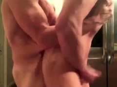 His own cum used as lube