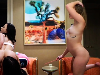 Strap-On Fucking And Ass Eating Live On Jerkmate