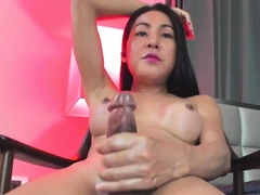 Amazing She-male Thippy69 Pop-shot On Cam Part 3
