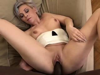 GRANNYLOVESBLACK – Kathy Whites Cum Filled Pussy